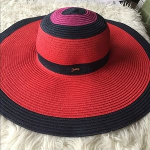 Juicy couture straw hat floppy hat beach sun